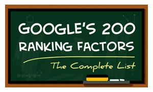 Google's 200 Ranking Factors
